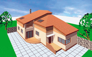 Stiri imobiliare | O casa eleganta, cu parter si mansarda
